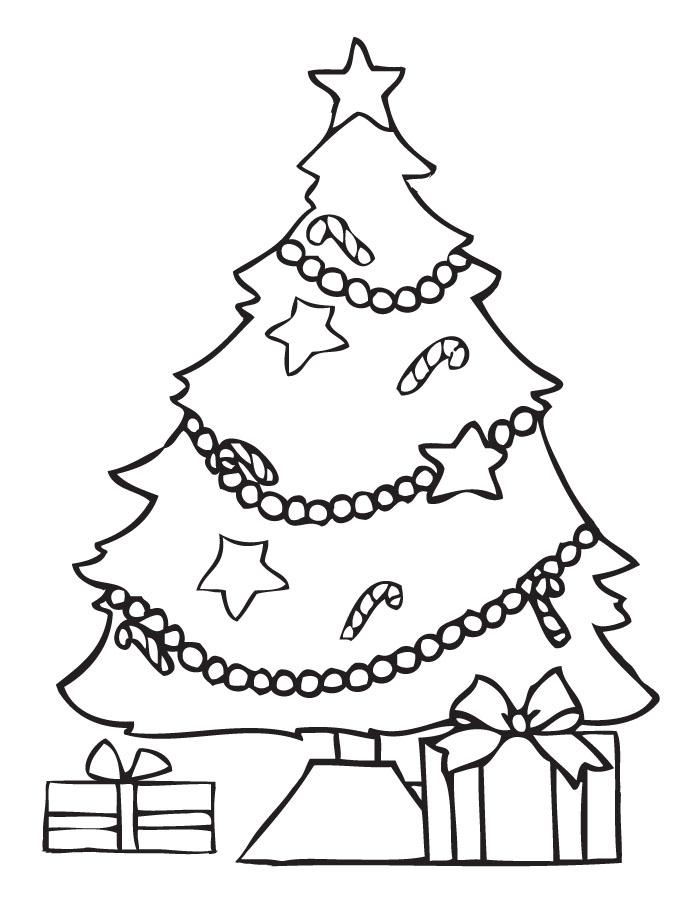 Dibujos de rboles de navidad para colorear e imprimir - Dibujos de arboles de navidad decorados ...