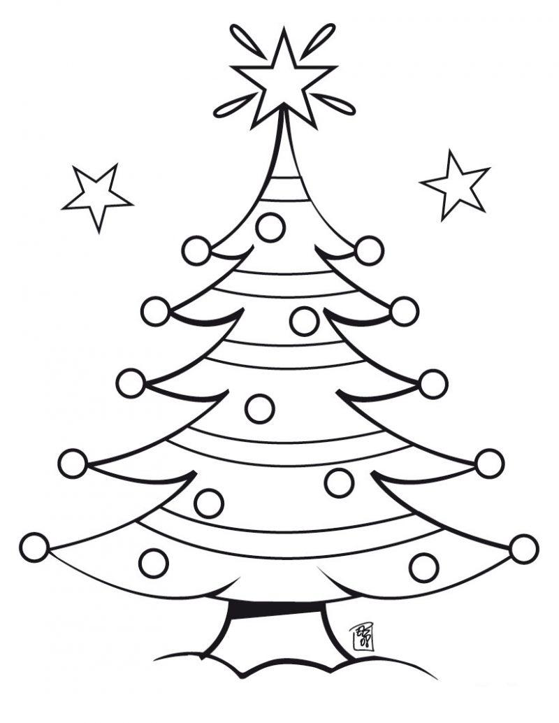 Dibujos de rboles de navidad para colorear e imprimir - Laminas de navidad para colorear ...
