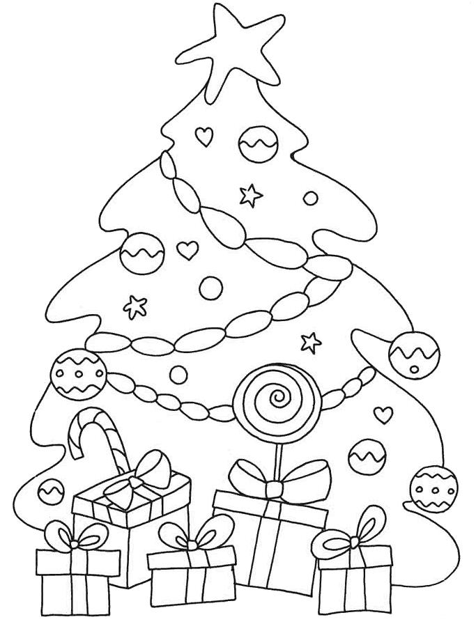 Dibujos de rboles de navidad para colorear e imprimir for Foto di alberi da colorare
