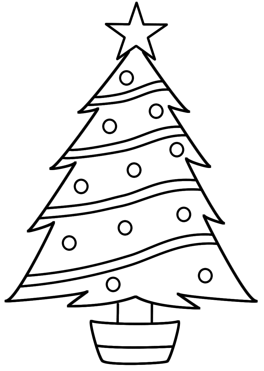 Dibujos de rboles de navidad para colorear e imprimir - Figuras de navidad para pintar ...