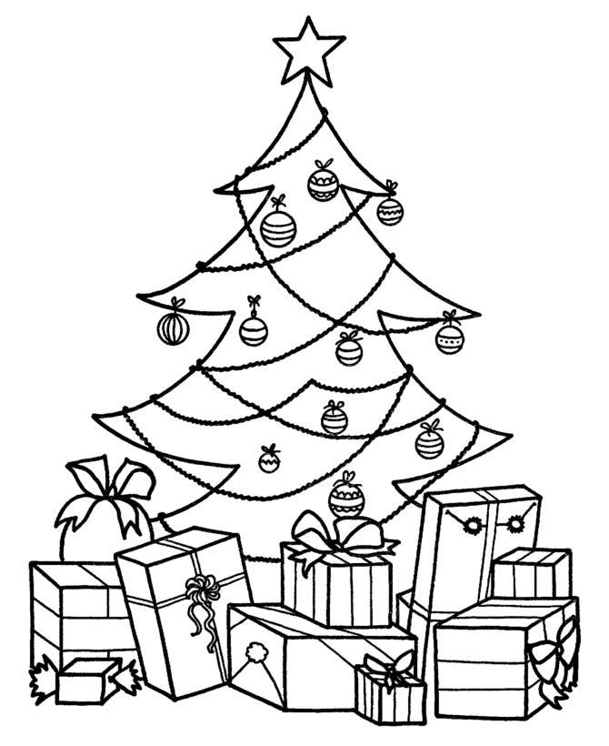 Dibujos de rboles de navidad para colorear e imprimir for Focos para iluminar arboles