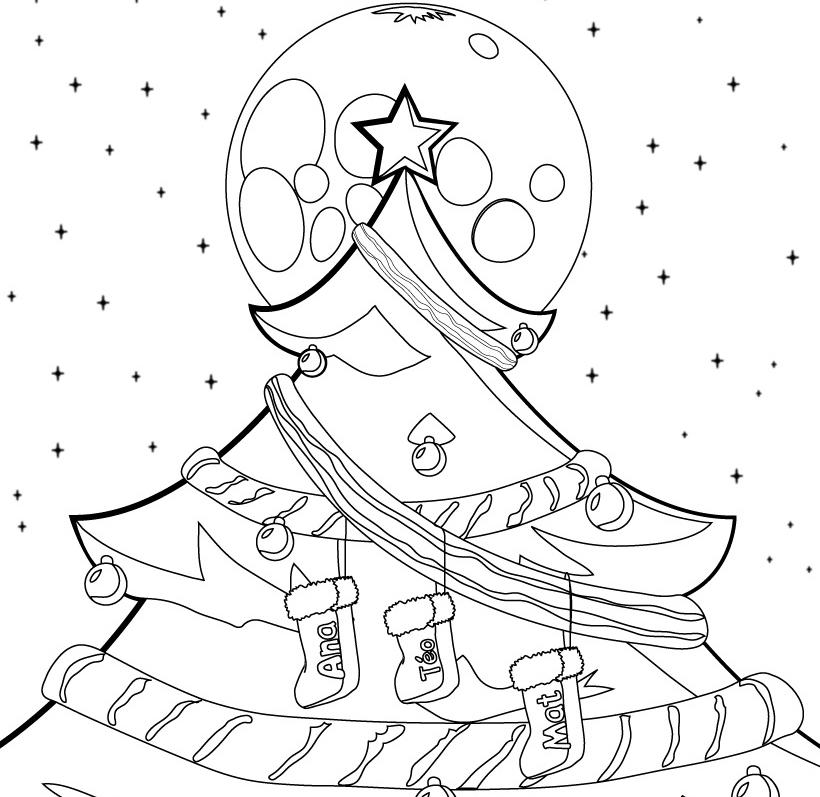 Dibujos de rboles de navidad para colorear e imprimir - Dibujos de navidad para colorear gratis ...