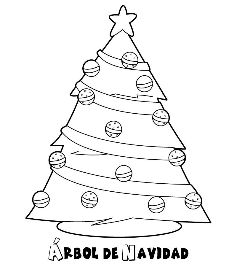 Dibujos de rboles de navidad para colorear e imprimir - Dibujos para pintar en tejas ...