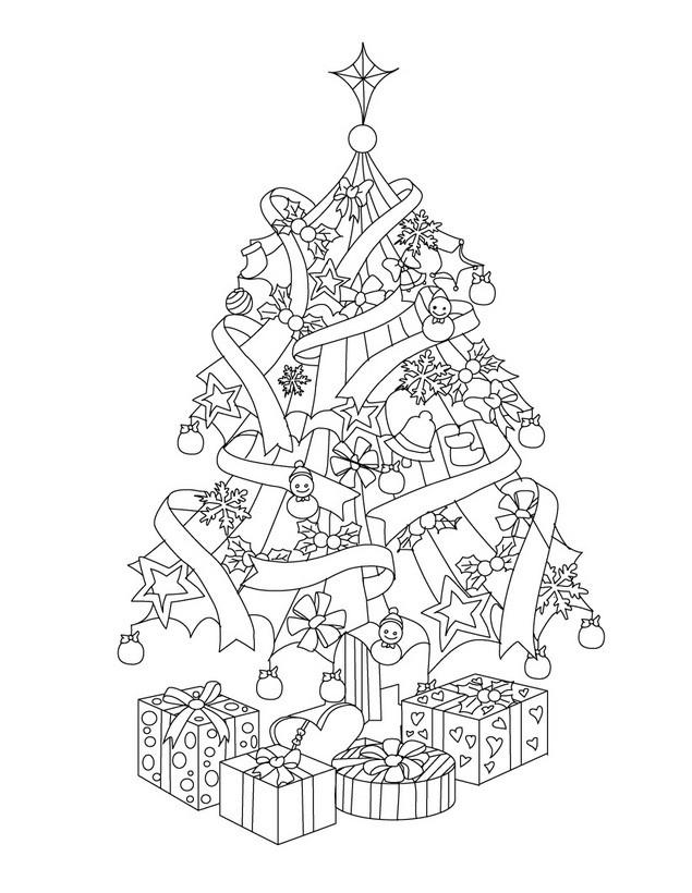 Dibujos de rboles de navidad para colorear e imprimir - Imagenes de navidad para imprimir gratis ...
