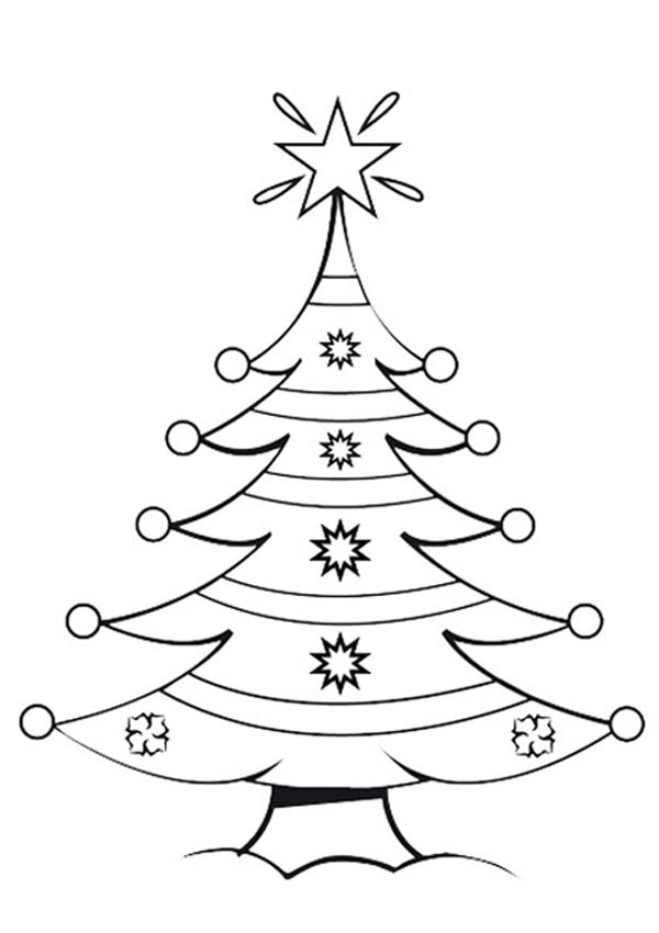 Dibujos de rboles de navidad para colorear e imprimir - Dibujos en color de navidad ...