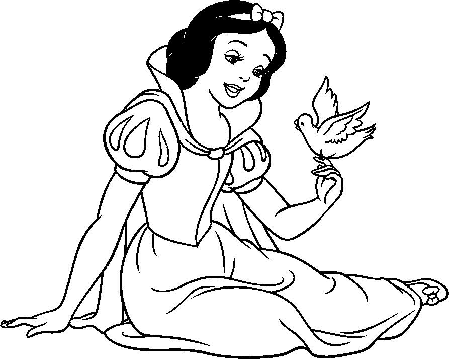 Dibujo De Nacionalidades Para Colorear: Dibujos De Blancanieves Y Los Siete Enanitos Para Colorear