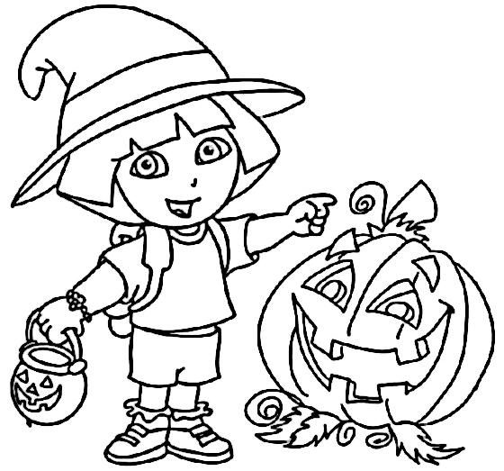 dora-la-exploradora-halloween-para-colorear
