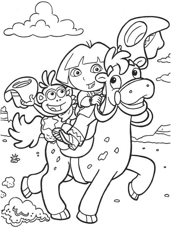 dora-la-exploradora-montada-en-caballo