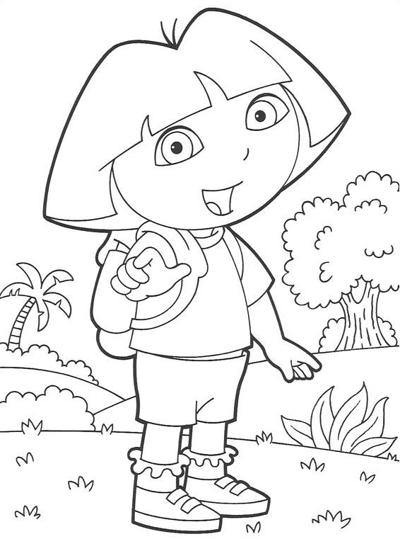 Dibujos de Dora la Exploradora para colorear e imprimir