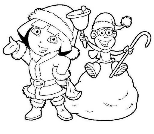 navidad-dora-la-exploradora-para-colorear