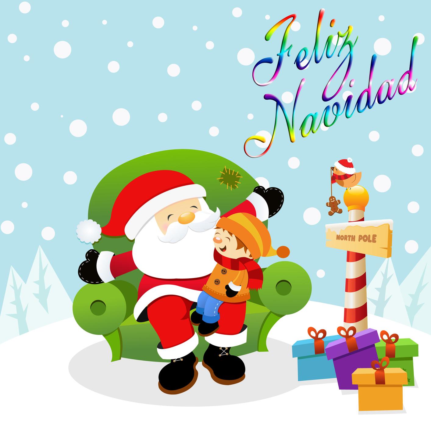 Tarjetas de navidad tarjetas navide as para felicitar las - Dibujos postales navidad ninos ...
