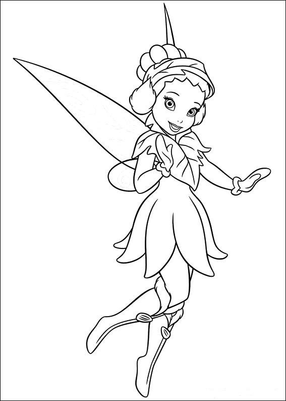 Dibujos de campanilla o campanita para colorear e imprimir gratis - Dibujos de hadas infantiles para imprimir ...