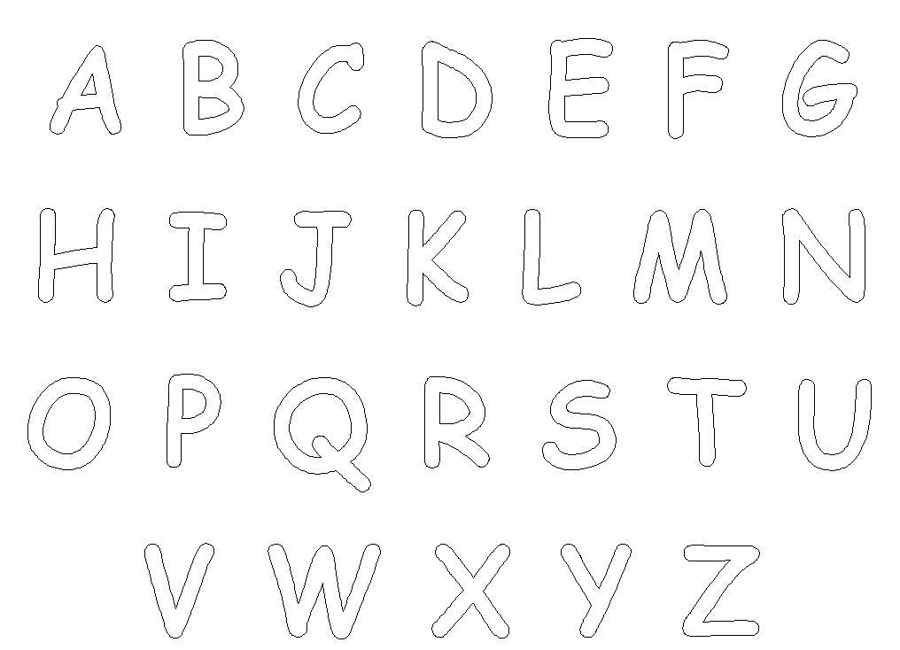 Dibujos Para Colorear Letra Q: Dibujos De Letras Del Abecedario Para Colorear E Imprimir
