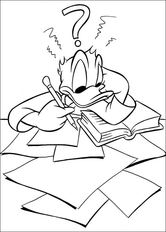 Dibujos del pato donald para colorear e imprimir - Donald coloriage ...