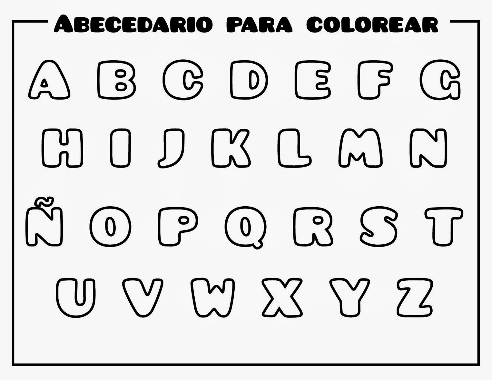 Dibujos De Letras Del Abecedario Para Colorear E Imprimir Gratis
