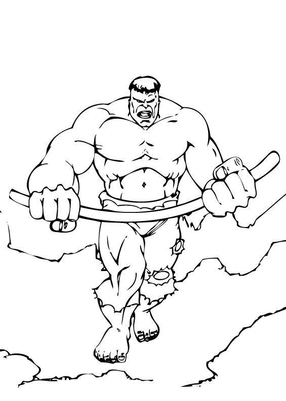 dibujos de hulk para colorear  pintar e imprimir gratis