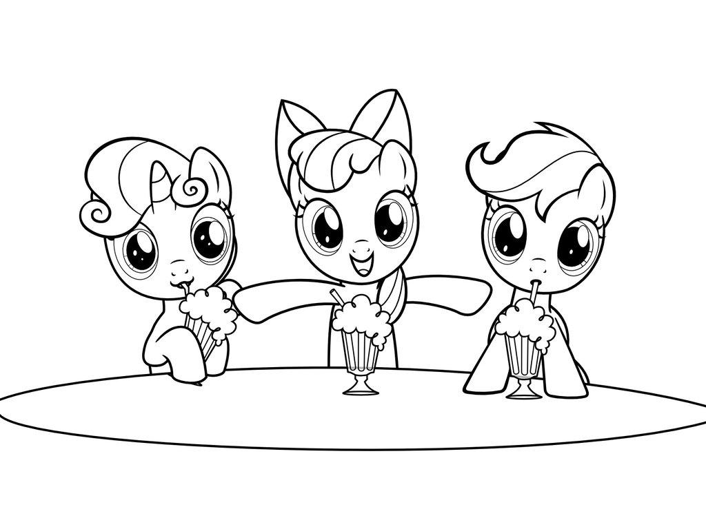 Dibujos Para Descargar Imprimir Y: Dibujos De My Little Pony Para Colorear, Pintar E Imprimir