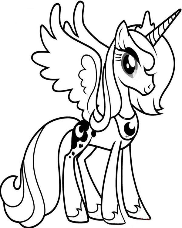 Celestia Kleurplaat My Little Pony Dibujos De My Little Pony Para Colorear Pintar E Imprimir
