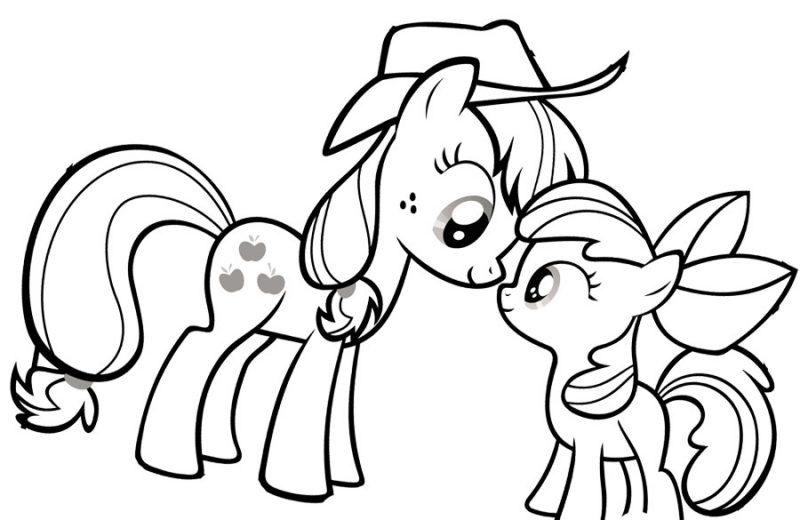 Dibujos de My Little Pony para colorear pintar e imprimir