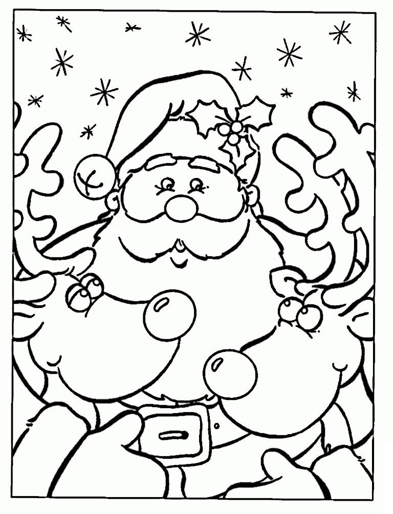 Dibujos De Pap 225 Noel Para Colorear Dibujos De Santa Claus