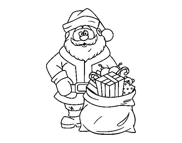 Dibujos de Papá Noel para colorear, dibujos de Santa Claus