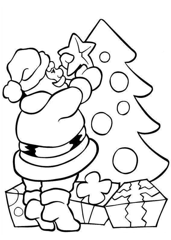 Dibujos de pap noel para colorear dibujos de santa claus - Papa noel coloriage ...