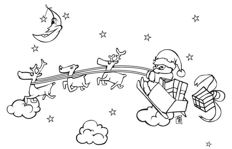 Papá Y Mamá Noel Dibujos Para Imprimir Y Colorear: Dibujos De Papá Noel Para Colorear, Dibujos De Santa Claus