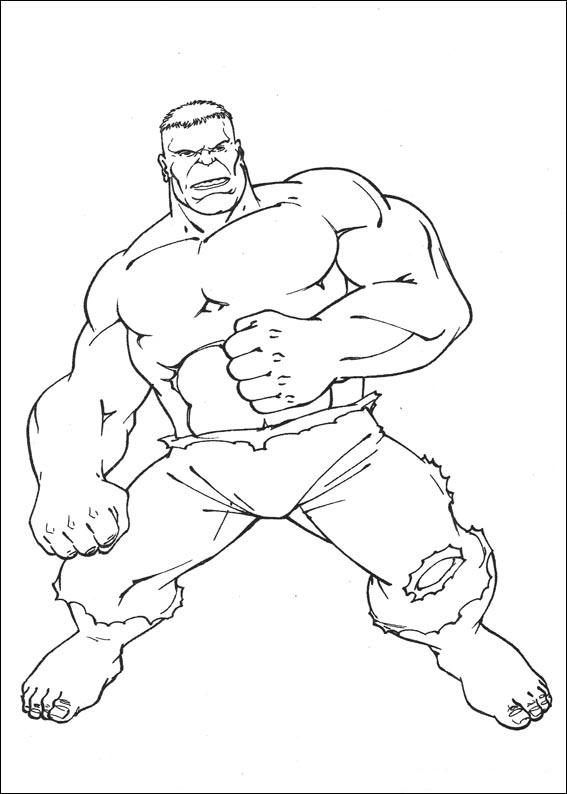 Dibujos de hulk para colorear pintar e imprimir gratis - Dessin de hulk a imprimer ...