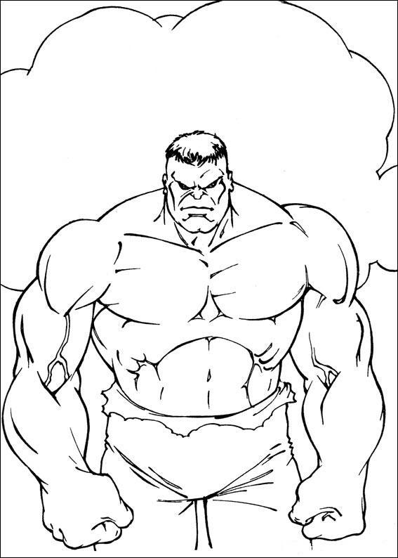 Dibujos de Hulk para colorear, pintar e imprimir gratis