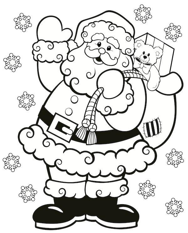 Dibujos De Papá Noel Para Colorear Dibujos De Santa Claus