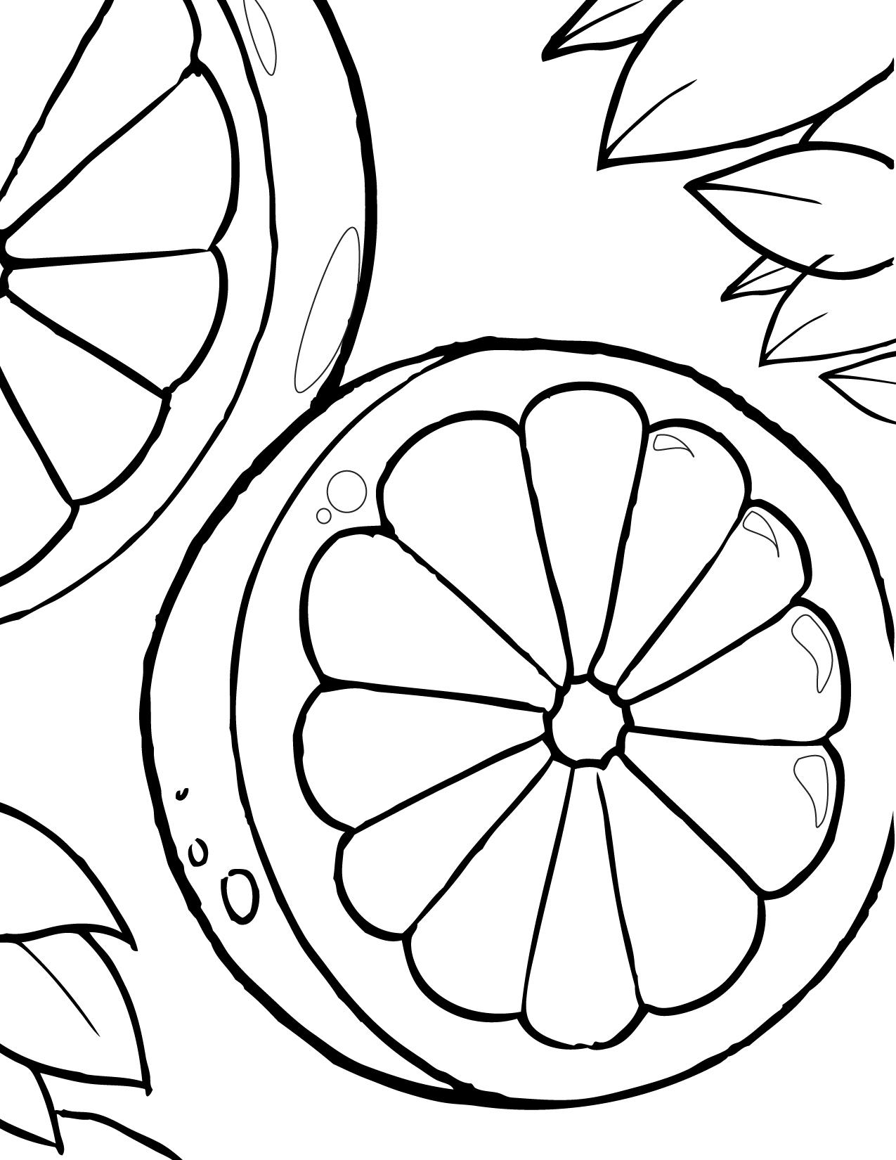 Dibujos para colorear de frutas imprimir y pintar - Dibujos de pared ...