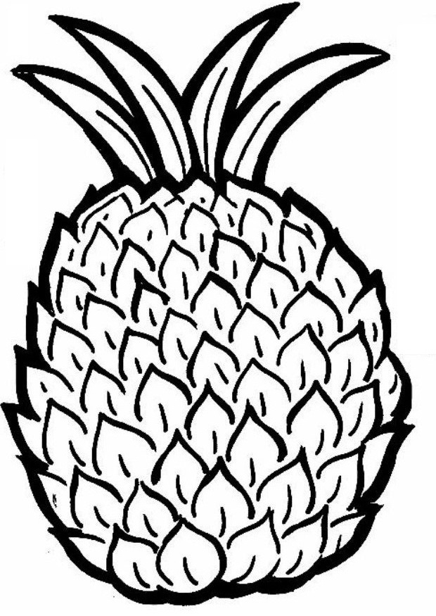 Dibujos para colorear de frutas, imprimir y pintar