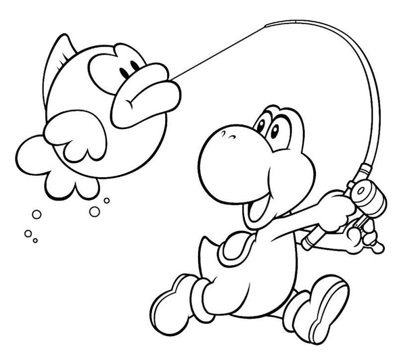 Dibujos de yoshi para colorear pintar e imprimir gratis for Disegni di squali per bambini