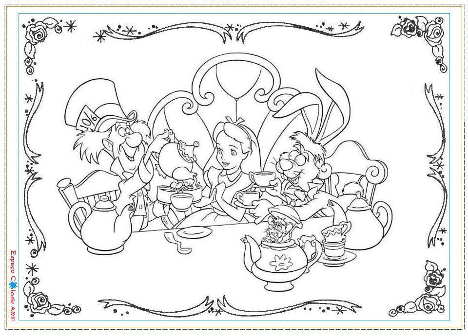 Dibujos De La Mujer Maravilla Para Colorear E Imprimir: Dibujos De Alicia En El Pais De Las Maravillas Para