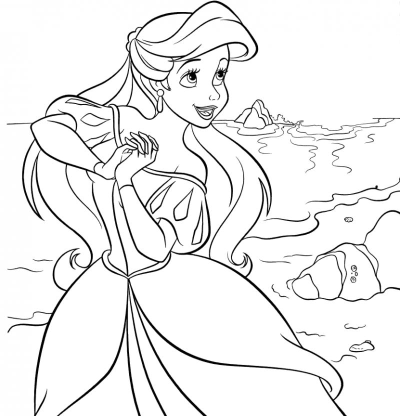 Dibujos de la Sirenita para colorear, pintar e imprimir gratis  Dibujos de la S...