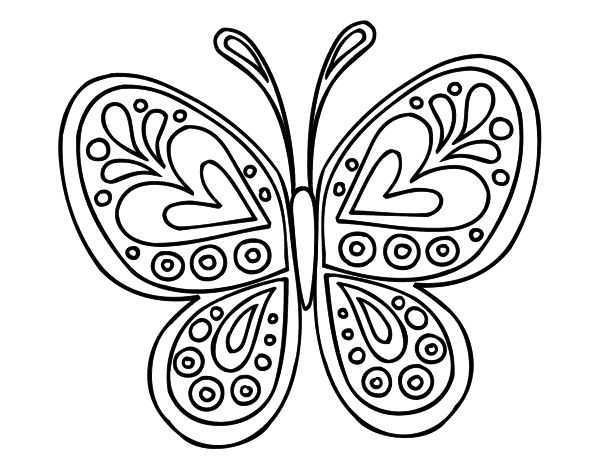 Imagenes Para Colorear E Imprimir: Dibujos De Mariposas Para Colorear