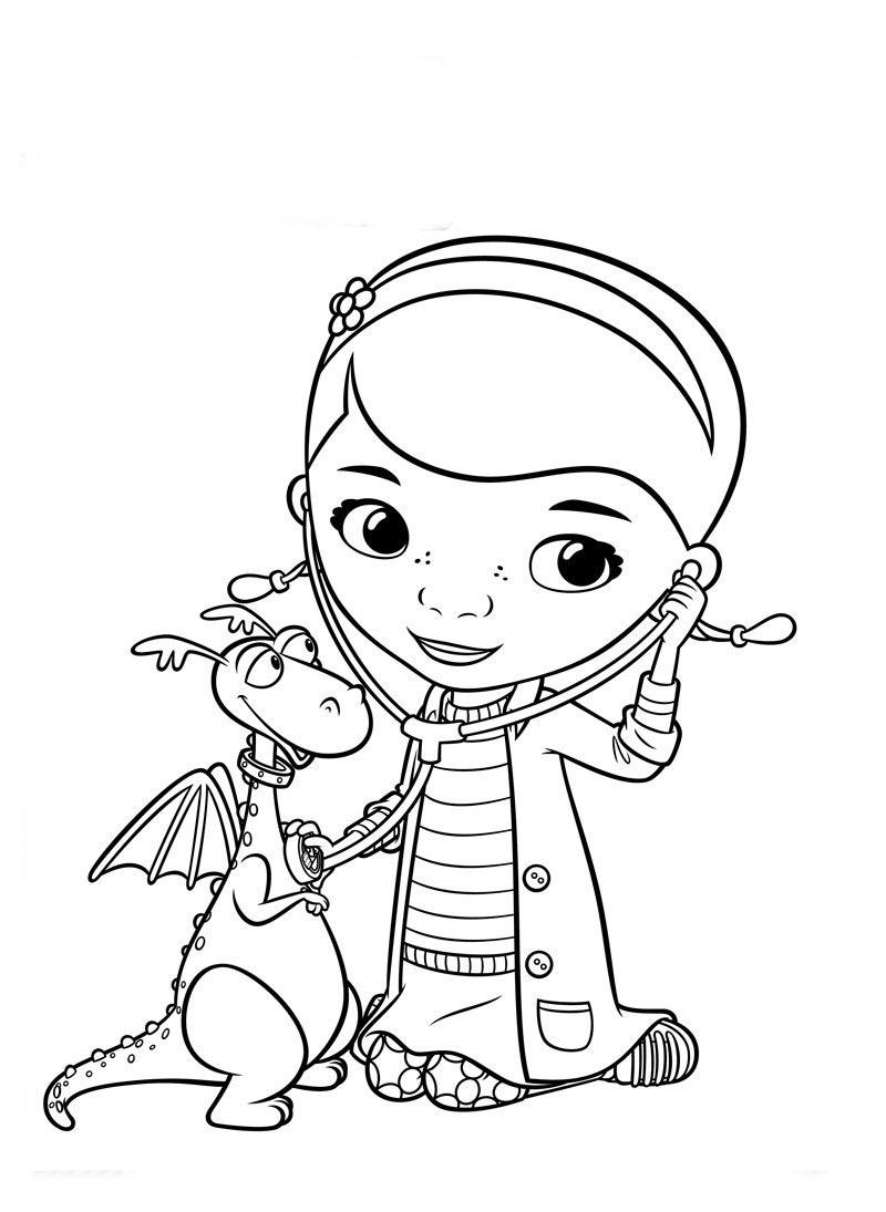 Dibujos de la Doctora Juguetes para colorear, pintar e imprimir gratis