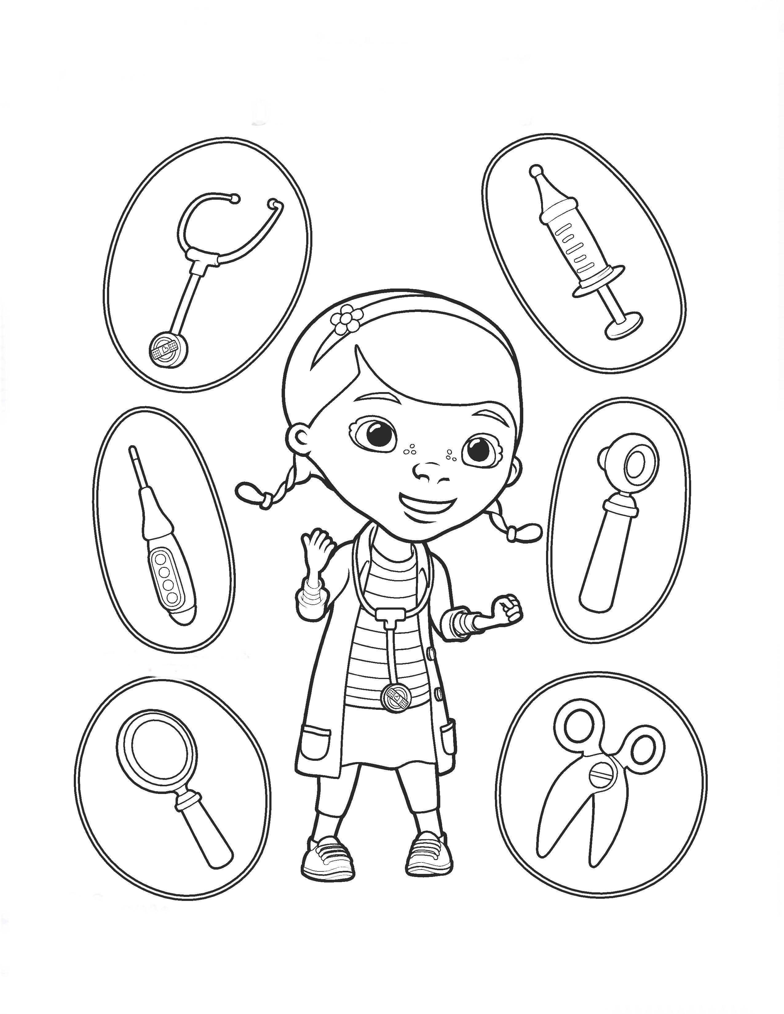 De Imprimir Doctora E Para Dibujos Juguetes ColorearPintar Gratis La gyvf7b6Y