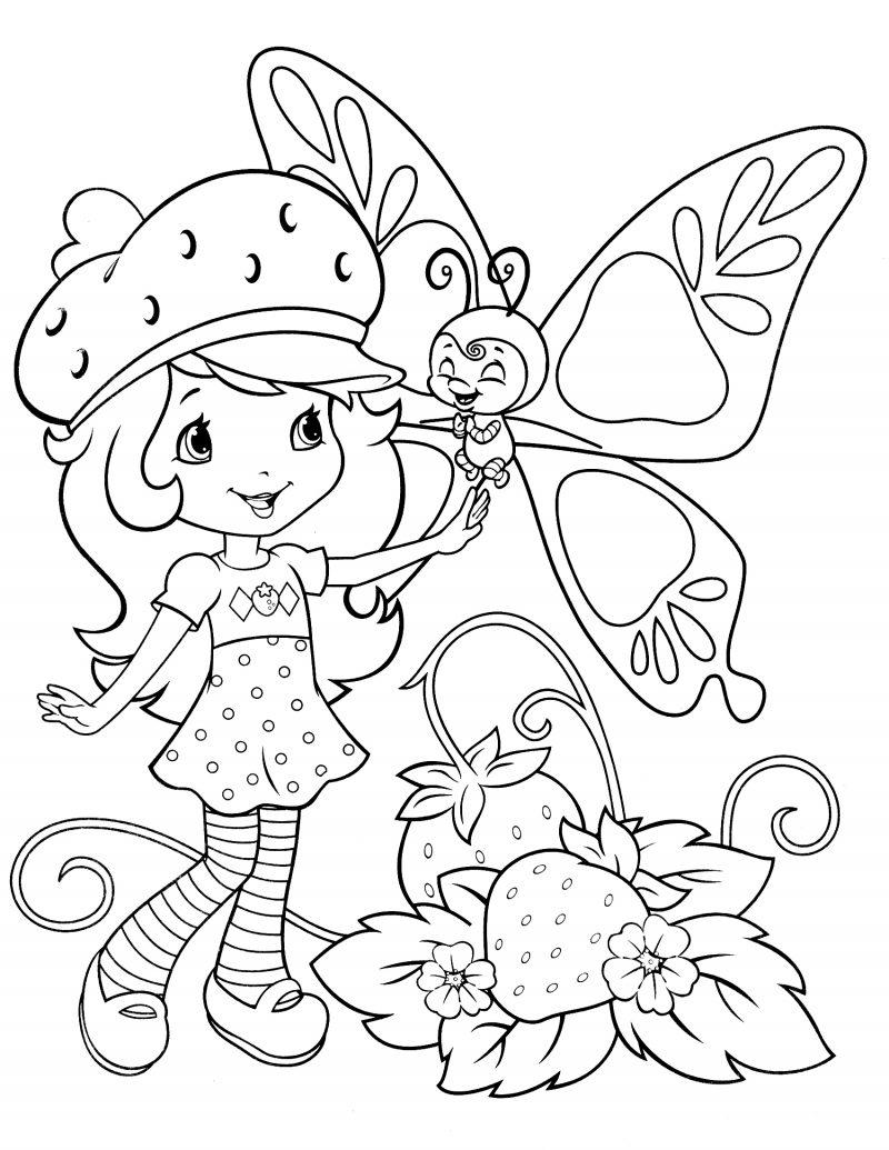 Dibujos de Tarta de fresa para colorear e imprimir