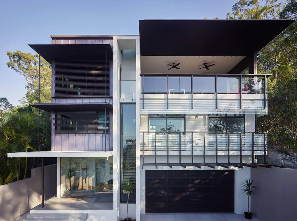 65 imagenes de fachadas de casas modernas minimalistas y for Fachadas de casas minimalistas de 3 pisos