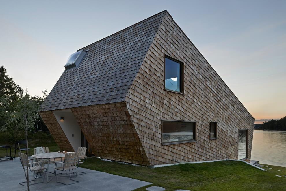 65 imagenes de fachadas de casas modernas minimalistas y for Fachadas de casas rojas modernas
