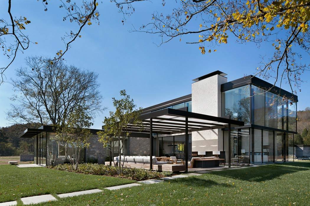 65 imagenes de fachadas de casas modernas minimalistas y for Fachada de casas modernas con vidrio