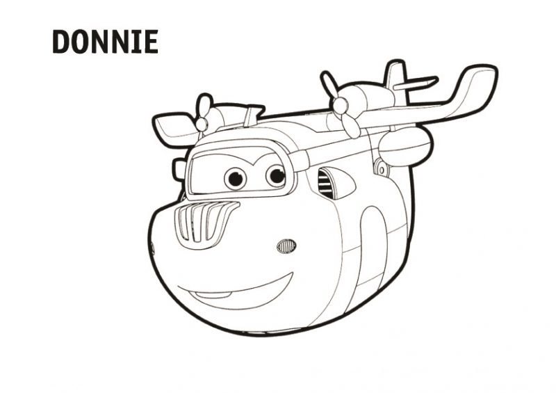 Dibujo de Donnie para colorear Super Wings