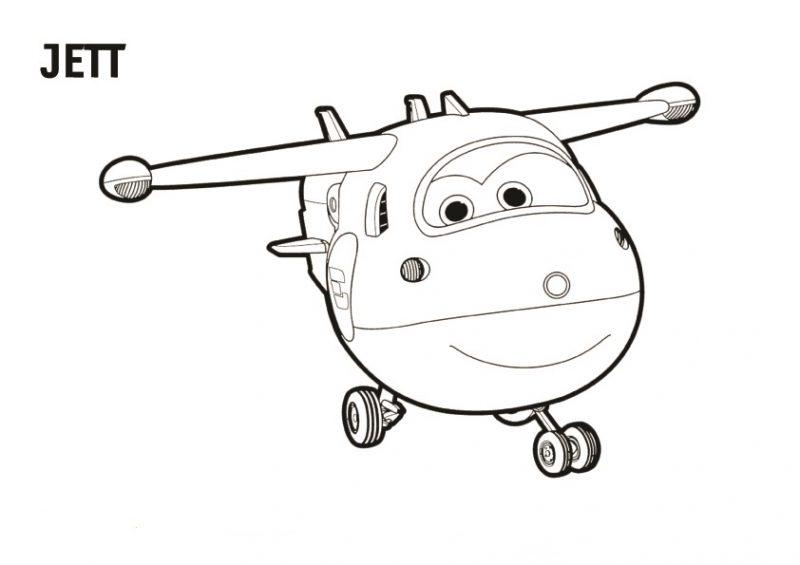 Dibujo de Jett de Super Wings para colorear