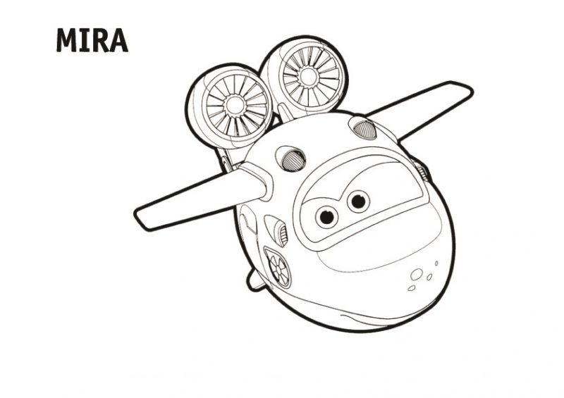 Dibujo de Mira Super Wings