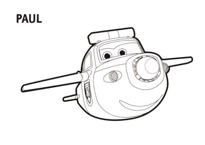 Dibujo de Paul para pintar Super Wings