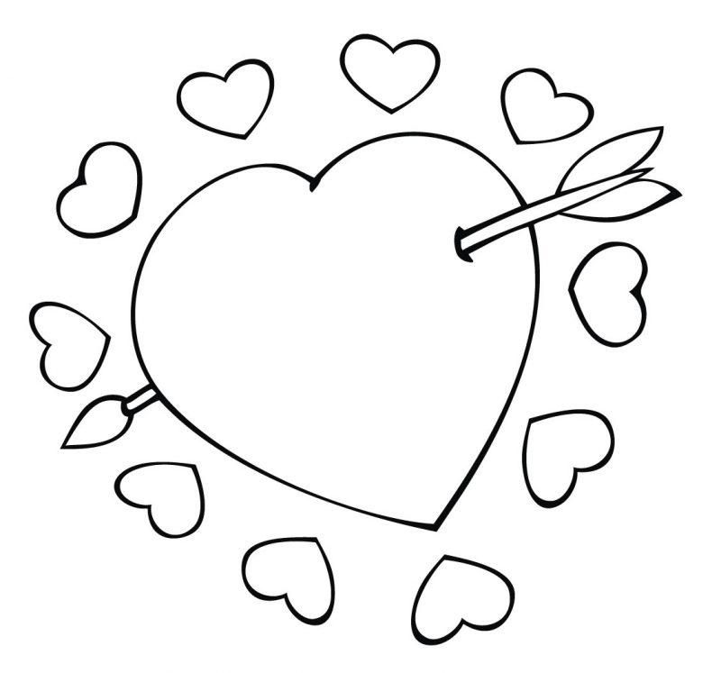 18 Dibujos de corazones de amor para colorear, pintar e ...