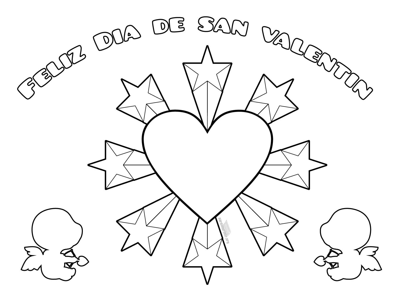Dibujos De San Valentin Para Colorear E Imprimir