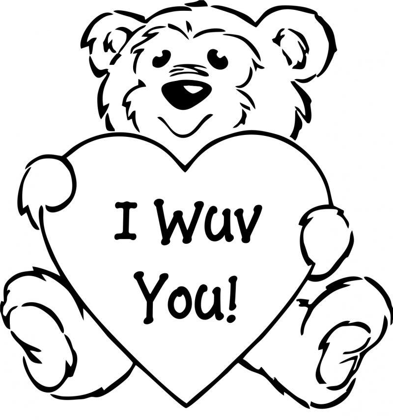 Santa Teddy Bear Coloring Pages
