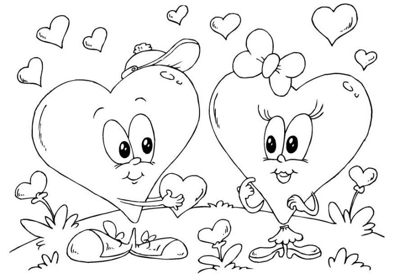 Dibujos De San Valentín: Dibujos De San Valentin Para Colorear E Imprimir